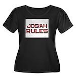 josiah rules Women's Plus Size Scoop Neck Dark T-S