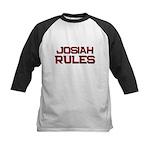 josiah rules Kids Baseball Jersey