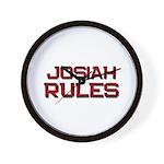 josiah rules Wall Clock