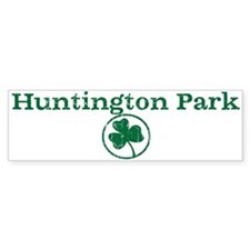 Huntington Park shamrock Bumper Bumper Sticker