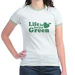 Life is Better Green Jr. Ringer T-Shirt