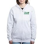 Life is Better Green Women's Zip Hoodie
