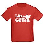 Life is Better Green Kids Dark T-Shirt