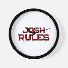 josh rules Wall Clock
