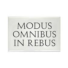 Modus Omnibus In Rebus Rectangle Magnet