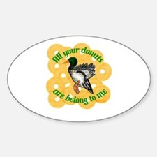 Donut Duck Oval Decal