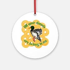 Donut Duck Ornament (Round)