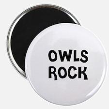 OWLS ROCK Magnet