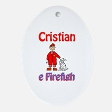 Cristian - Firefighter Oval Ornament