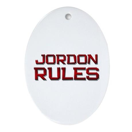 jordon rules Oval Ornament