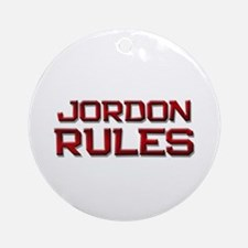 jordon rules Ornament (Round)