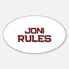 joni rules Oval Decal