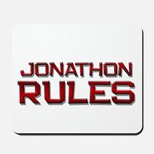 jonathon rules Mousepad