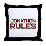 jonathon rules Throw Pillow