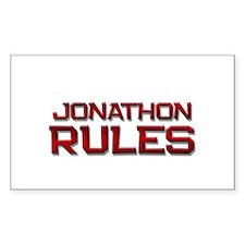 jonathon rules Rectangle Decal