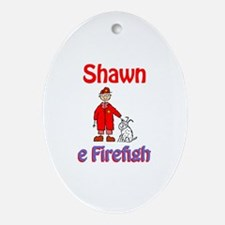 Shawn - Firefighter Oval Ornament