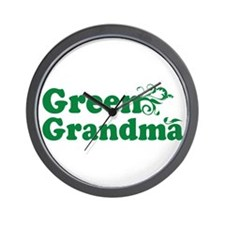 Green Grandma Wall Clock