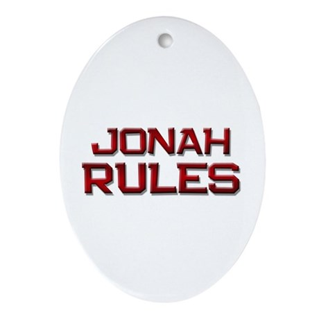 jonah rules Oval Ornament