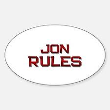 jon rules Oval Decal