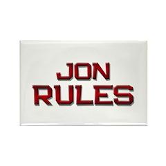 jon rules Rectangle Magnet (10 pack)