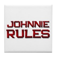 johnnie rules Tile Coaster