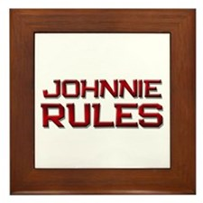 johnnie rules Framed Tile