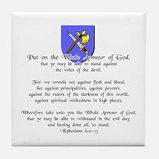 Whole Armour of God Tile Coaster