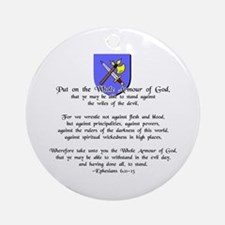 Whole Armour of God Ornament (Round)