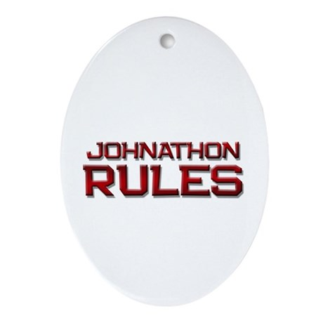 johnathon rules Oval Ornament