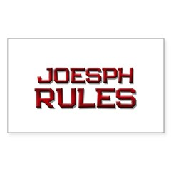 joesph rules Rectangle Decal