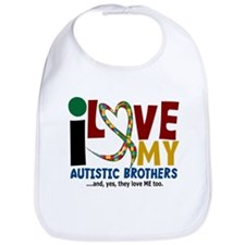 I Love My Autistic Brothers 2 Bib