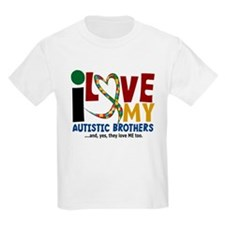 I Love My Autistic Brothers 2 T-Shirt