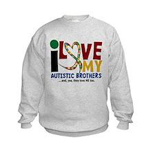 I Love My Autistic Brothers 2 Sweatshirt