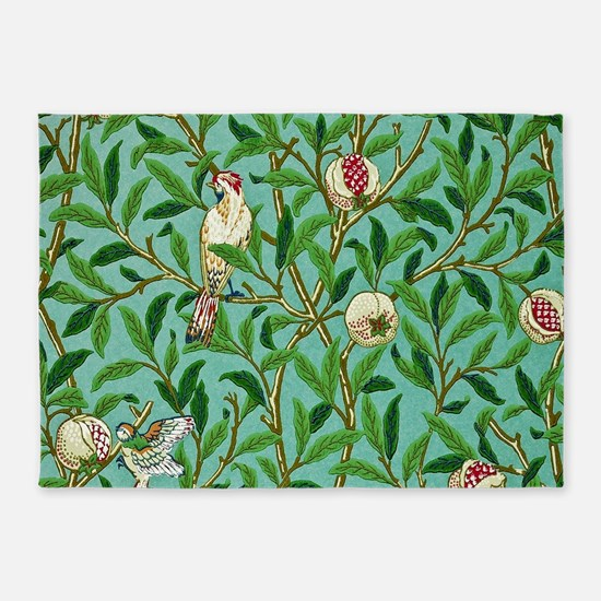 William Morris Design 5'x7'Area Rug