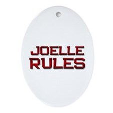 joelle rules Oval Ornament