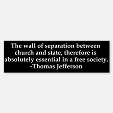 Separation of Church and State Bumper Bumper Bumper Sticker