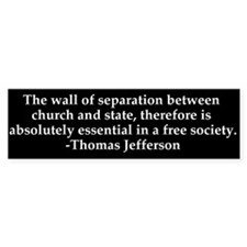 Separation of Church and State Bumper Stickers