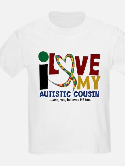 I Love My Autistic Cousin 2 T-Shirt