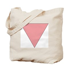 Pink Triangle Tote Bag