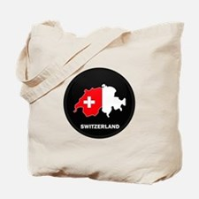 Flag Map of Switzerland Tote Bag