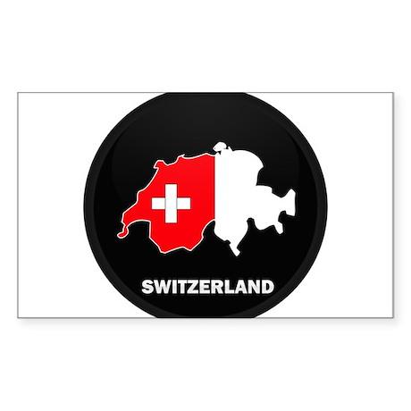 Flag Map of Switzerland Rectangle Sticker