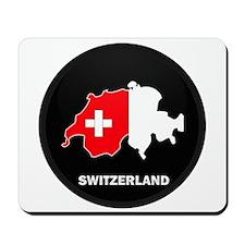 Flag Map of Switzerland Mousepad