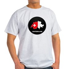 Flag Map of Switzerland T-Shirt