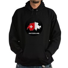 Flag Map of Switzerland Hoodie