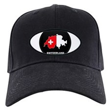 Flag Map of Switzerland Baseball Hat