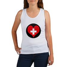 I love Switzerland Flag Women's Tank Top