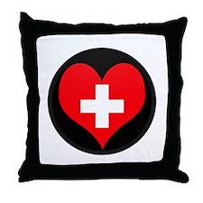 I love Switzerland Flag Throw Pillow