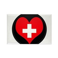 I love Switzerland Flag Rectangle Magnet