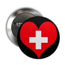 """I love Switzerland Flag 2.25"""" Button"""