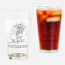Weather Cartoon 1275 Drinking Glass